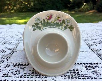 "4 Figgjo Flint Egg Cups/Norway Mid Century/Farmhouse Kitchen/White Porcelain Egg Cups/4"" Egg Stand/Scandinavian Egg Cups/"