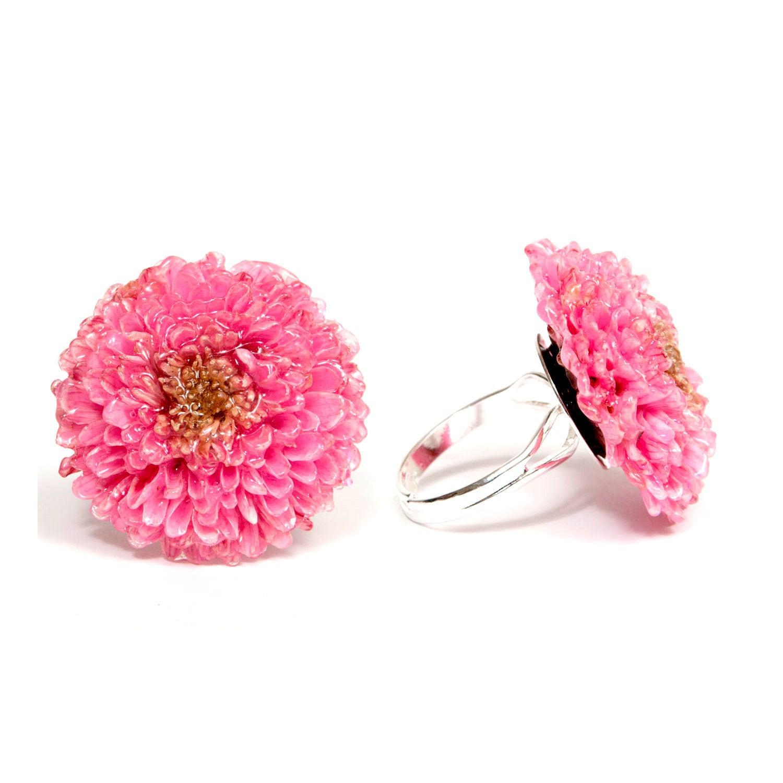 Real flower ring, Green flower ring, Chrysanthemum flower ring ...