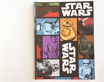 Star Wars notebook with Rey and BB-8 etc.