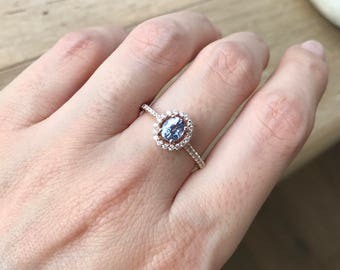 Blue Sapphire Engagement Ring- Rose Gold Sapphire Ring- Classic Oval Promise Ring- September Birthstone Ring- Sapphire Anniversary Ring
