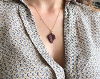 30% OFF Agate Necklace- Leaf Necklace- Gemstone Necklace- Statement Necklace- Leaf Silver Necklace- Necklaces