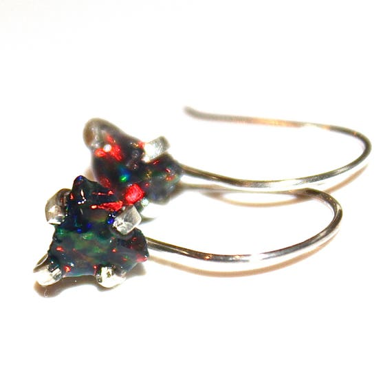 Raw Opal Earring