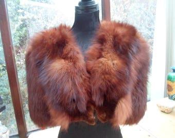 Hollywood fox fur cape