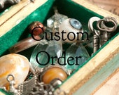 Custom order for E... 8 double sided etched brass Seal of Light charm necklaces.