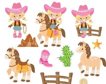 ON SALE INSTANT Download. Cowgirls clip art. Ccow_19. Personal and commercial use.