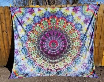 Funky Tie Dye Mandala Tapestry