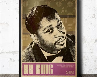 B.B. King Blues Music Art Poster