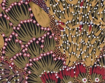 M & S Textiles, Australian Aboriginal Fabric, Bush Banana, 100% cotton