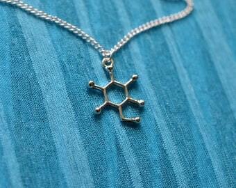 Biolojewelry - Glucose Molecule Necklace Set