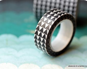 Masking tape / adhesive tape black triangles 15mm x 10m