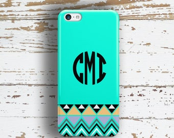 Aztec Iphone case, Personalized Iphone 6 Plus case, Tribal Iphone 5c case Cute iPhone 5 case monogram, Turquoise iPhone 4 case gold (1411)