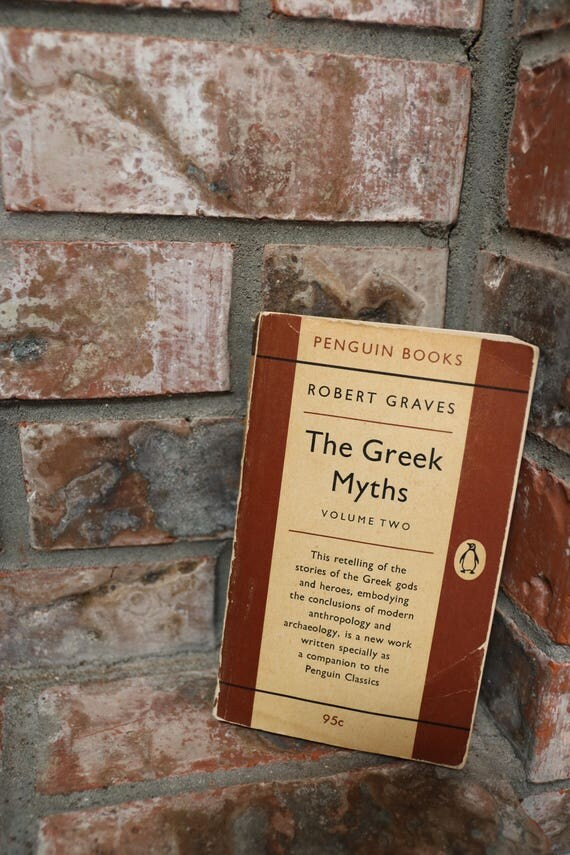 The GREEK MYTHS by Robert Graves, Mythology Book, Mythology Text, Greek Gods and Goddesses, Folklore