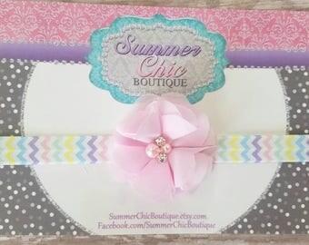 Easter Baby Headband, Eaater Headband, Infant Headband, Newborn Headband, Headband, Pink Easter  Headband, Light pink Easter Headband