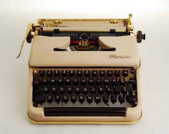 Gold Typewriter Olympia SM3