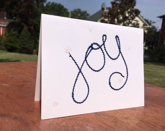CORNELY EMBROIDERY greeting card JOY!