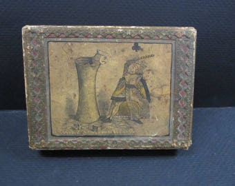 antique deck of card box