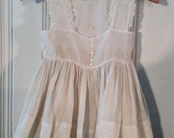 1940's Little Girl's Dress & Apron