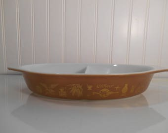 Vintage orange and white Pyrex bowls Butterfly four piece set