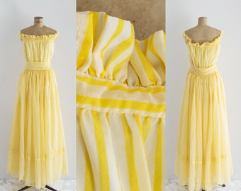 50s Ball Gown - Vintage 1950s Off Shoulder Dress - Carosello Dress