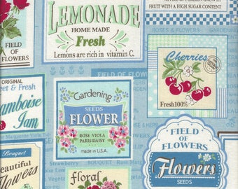 Fruit Labels (Color F) from the 30's Collection by Atsuko Matsuyama for Yuwa of Japan