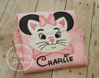 Marie Aristocats Mouse Custom embroidered Disney Inspired Vacation Shirts for the Family! 44