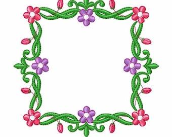Floral Wreath Frame with Monogram - Custom Tee 7