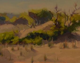 Sandbridge - Virginia Beach - Plein Air - Sand - Dunes - Sand Dunes - Grass - Oil Painting - Landscape - Beach - Eastern Shore - Seaside