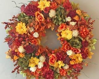 Fall Door Wreaths, Autumn Wreaths, Fall Wreaths for Front Door, Fall Door Wreaths, Wreath for Fall, Fall Floral Wreath