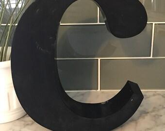 """Vintage metal sign letter """"c"""""""