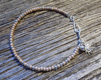 Mocha Pearl Beaded  Anklet