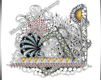 Zentangle Insired Art - There Is A Square In There