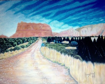 """Painting from A Photograph: """"Road to Sedona"""""""