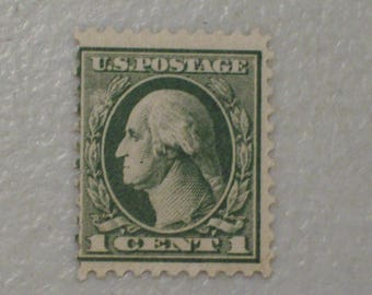 1918 US Postage Stamp, Scott #525 Washington, 1 Cent, MNH