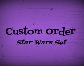Star Wars Set of Four, Custom Order, Star Wars Polymer Clay Figurines, Miniature Star Wars Characters, Movie Figurines, RESERVED