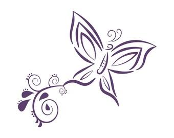 Butterfly- vinyl decal