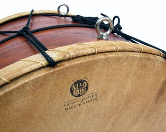 45cm Davul Tupan Tapan Νταούλι Tof Tabla Dohol Dahol Dhol Barrel Daouli Drum by KleoDrums Choice of Finish and Belt Attachment