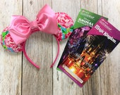 Rose Floral Minnie Mouse Inspired Ears First Impressions Lilly Pulitzer Inspired Fabric