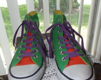 Converse All Star Sneakers Retro Vintage Size 6.5 So Much Fun