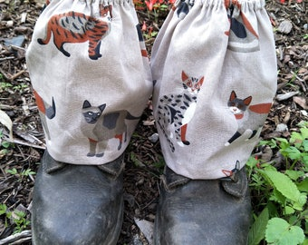 Gardening boot covers, gaiters, shoe covers , outdoor footwear,  hiking boot covers