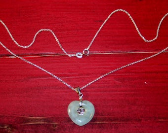 Heart shaped necklace with sterling