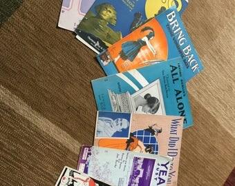 Sheet Music vintage