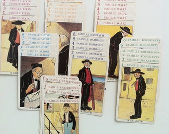 Vintage Happy Families Cards. 7 Families Card Game. 1970s Illustrated Playing Card Deck. French Jeu Des Sept Familles.