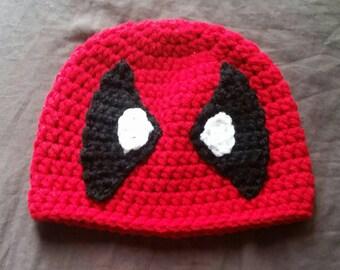 Pattern Only * Crochet Deadpool Beanie
