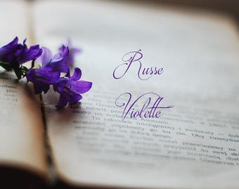 "Natural Violet Perfume ""Russe Violette"" Natural fragrance Exotic perfume Violets Fruit 3 ml cruelty free vegan"