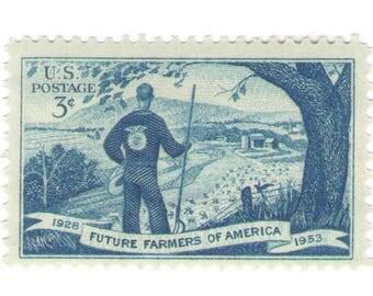 Unused 1953 Future Farmers of America - FFA - Vintage Postage Stamps Number 1024