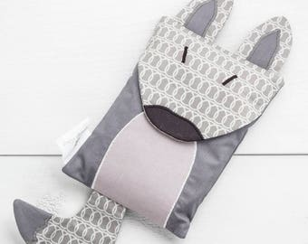 Heating bag, rice bag, wolf gift, wolf, heating pad, children gift, teen gift, wolf heating bag, hot cold therapy, shower gift, baby gift