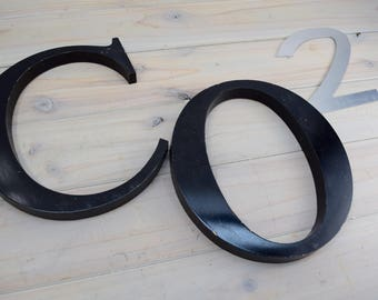 Metal Letter, Signs, Letters, Industrial, CO 2
