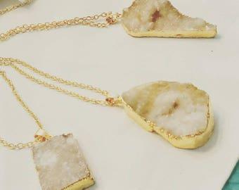 Quartz Crystal Druzy Necklace