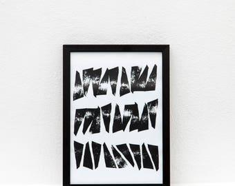 Swing Screen Print | Screen Printed, Minimalist Screen Print | Wall Decor | Wall Print | Hand Screen Printed