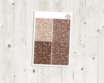 Brown Glitter Headers - ECLP Stickers